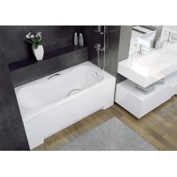 Aria Straight Rectangular Acrylic Bathtub