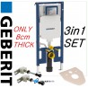 Geberit UP720 Duofix frame for wall hung WC, H114 with Sigma cistern 8cm 2016 series