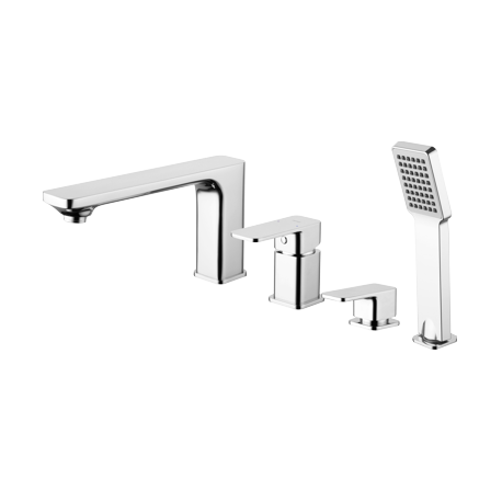 Apure Bathtub Tap Deck Mounted four hole chrome