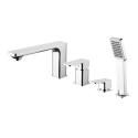 Omnires Apure Bathtub Tap Deck Mounted four hole chrome