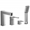 Omnires Columbia Bathtub Tap Deck Mounted four hole chrom