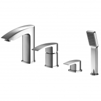 Omnires Murray Bathtub Tap Deck Mounted Four Hole Chrome