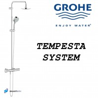 Grohe New Tempesta Cosmopolitan 160 Thermostatic Tap Shower Mixer Rain Overhead