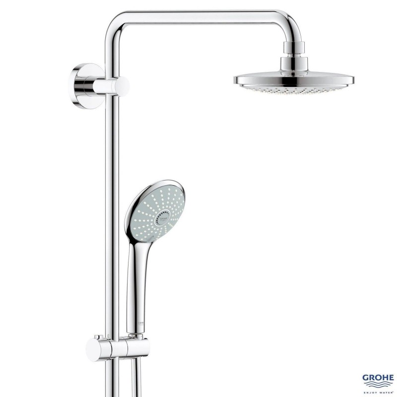 grohe euphoria 180 thermostatic tap shower mixer system. Black Bedroom Furniture Sets. Home Design Ideas