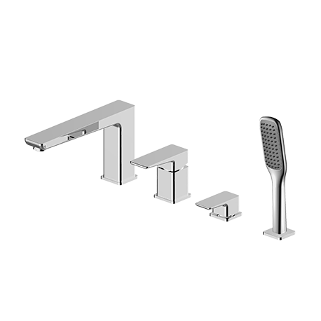 Omnires Parma Bathtub Tap Deck Mounted Four Hole Chrom