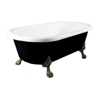Omnires Atena 175 Freestanding Bathtub Black/White Polished Marble