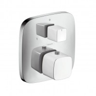 Hansgrohe PuraVida - Thermostat for concealed installation with shut-off and diverter valve