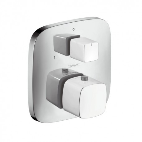 PuraVida - Thermostat for concealed installation with shut-off and diverter valve