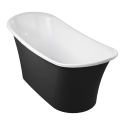 Omnires Lisbona 158 Freestanding Bathtub Black/White Polished Marble