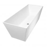 Omnires London 159 Freestanding Bathtub White Polished Marble