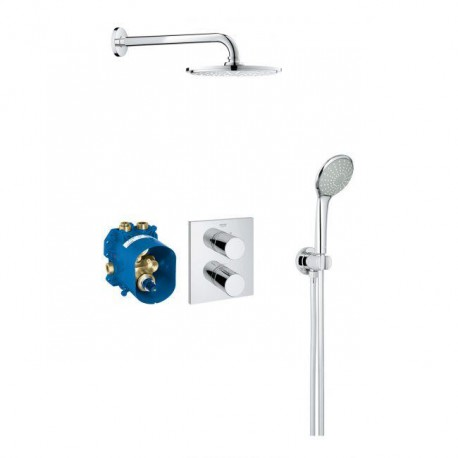 Grohe Grohtherm 3000 Cosmopolitan Comfort Shower Set Concealed Thermostatic Rain Mixer Valve