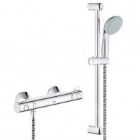 Grohe Grohtherm G800 EV Thermostatic Shower Mixer Tap Tempesta Riser Rail Kit Shower Head