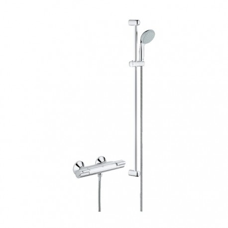 Grohe Grohtherm 1000 Shower Thermostat With Tempesta 100 Shower Set