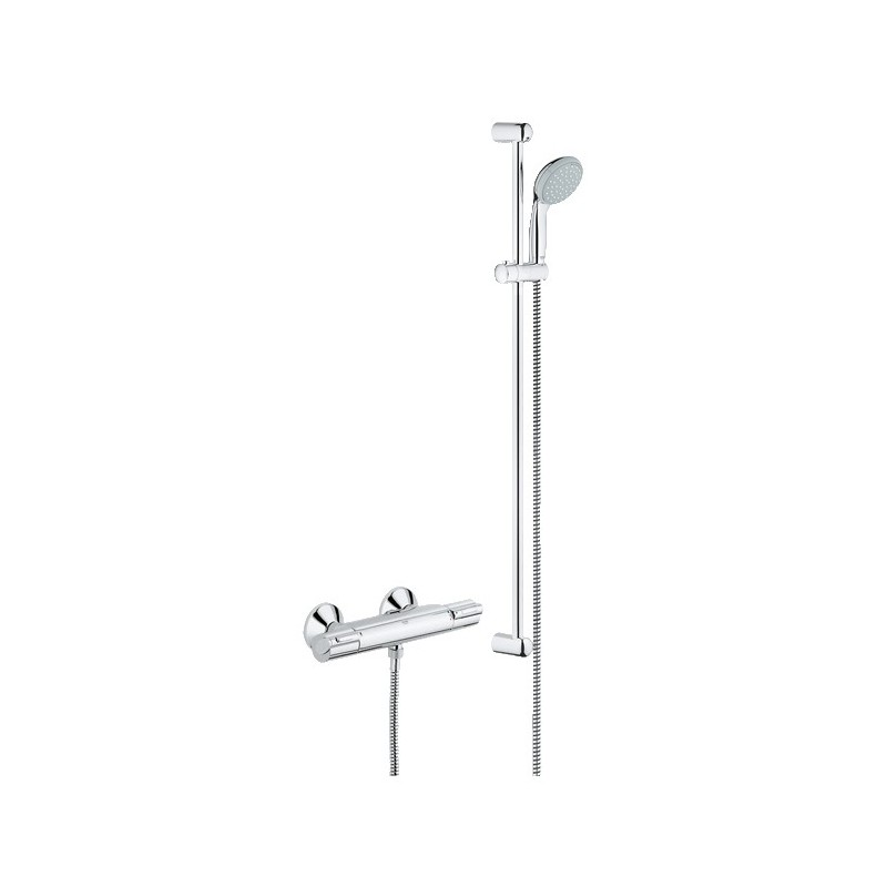 grohe grohtherm 1000 shower thermostatic mixer tap with. Black Bedroom Furniture Sets. Home Design Ideas