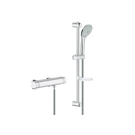 Grohe Grohtherm 2000 Shower Thermostatic Mixer Tap With Euphoria Massage 100 Set