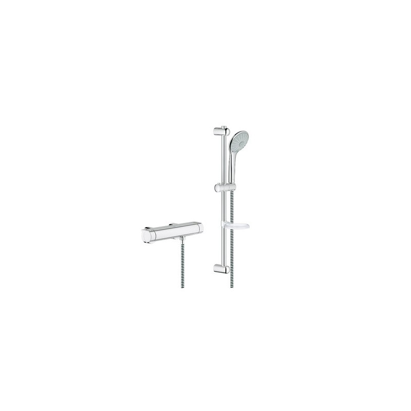 grohe grohtherm 2000 shower thermostatic mixer tap with euphoria ma. Black Bedroom Furniture Sets. Home Design Ideas