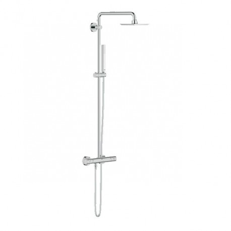 Grohe Euphoria 150 Thermostatic Tap Shower Mixer System Panel Rain Overhead