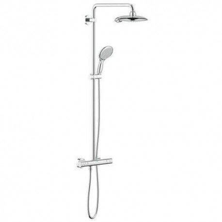 Grohe Euphoria Power & Soul System Thermostatic Tap Shower Mixer System Panel Rain Overhead