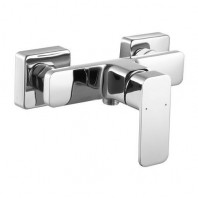 Omnires Apure Shower Mixer Tap Wall Mounted Single Lever Chrome
