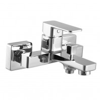 Omnires Apure Bath Mixer Tap Single Lever Wall Mounted Chrome