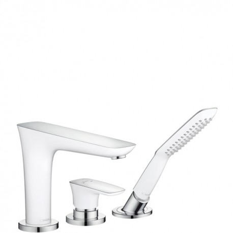 Hansgrohe  PuraVida 3-Hole rim-mounted single lever bath mixer