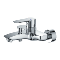 Omnires Mackenzie Bath Mixer Tap Single Lever Chrome