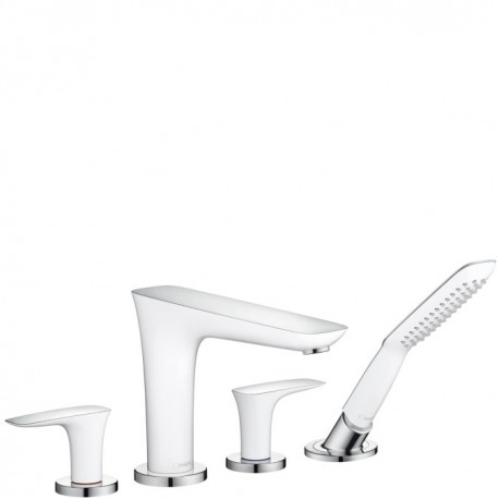 Hansgrohe PuraVida 4-Hole rim-mounted bath mixer