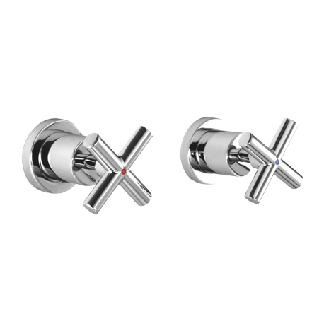 Omnires Modern Concealed Shower Mixer Tap Single Lever Chrome