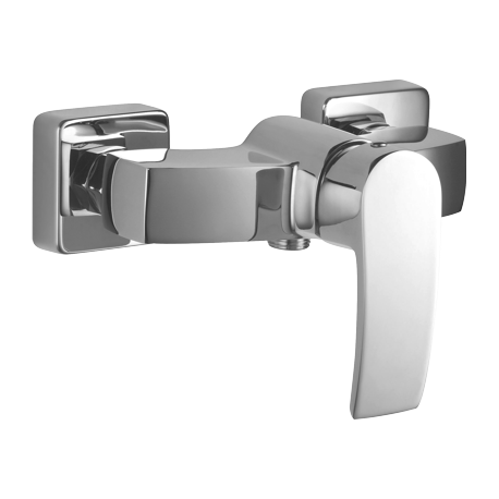 Omnires Murray Shower Mixer Tap Wall Mounted Single Lever Chrome