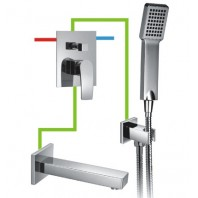 Omnires Murray Bath Concealed Mixer Tap Shower Valve Set