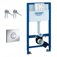 Grohe Grohe Rapid SL 3 in 1 Set for WC 1.0 m  m With Flush Plate Nova Cosmo And Brackets