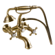 Omnires Retro Bath Mixer Tap Monoblock Antique Bronze Wall Mounted With Shower Head And Shower Hose
