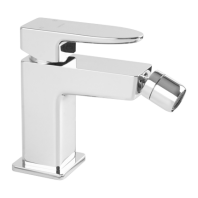 Omnires Parma Bidet Mixer Tap Single Lever Chrome