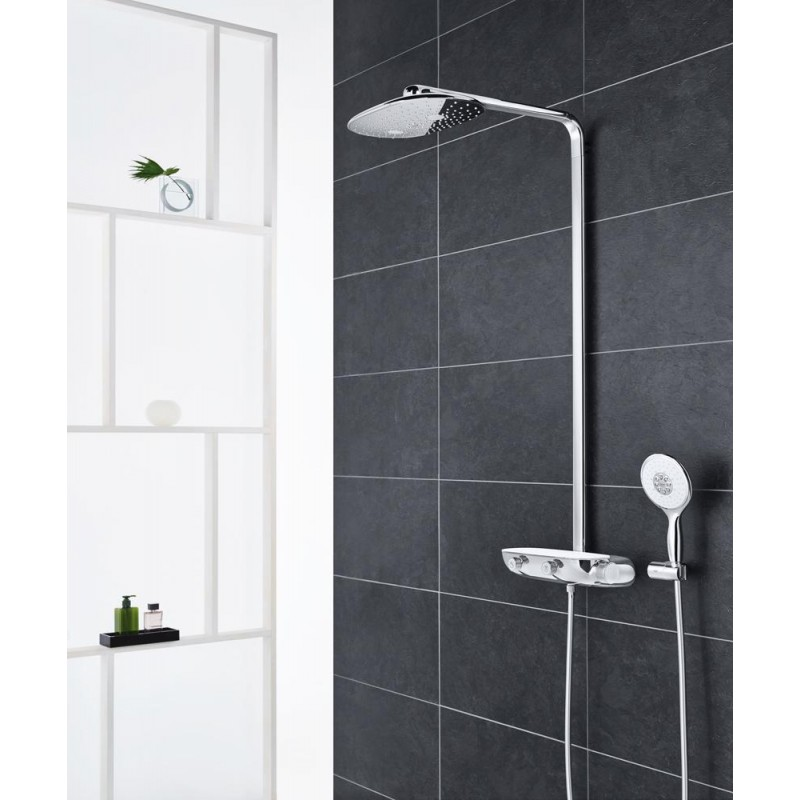 grohe rainshower smart control 360 thermostatic tap shower mixer sy. Black Bedroom Furniture Sets. Home Design Ideas