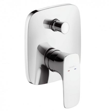 Hansgrohe PuraVida Single Lever Bath Mixer for concealed installation with integrated security combination