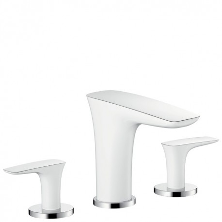Hansgrohe  PuraVida 3-hole basin mixer 100 with pop-up waste set