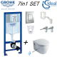Grohe Wc Frame Ideal Standard Concept Space Wall Hung Toilet Pan With Soft Close Seat