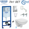 Grohe Rapid Sl Wc Concealed Frame + Ideal Standard Tempo Wall Hung Toilet Pan With Soft Close Seat