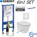 Geberit Duofix Basic Delta UP100 Wc Frame + Ideal Standard Concept Air Aquablade Toilet Pan With Slim Soft Close Seat