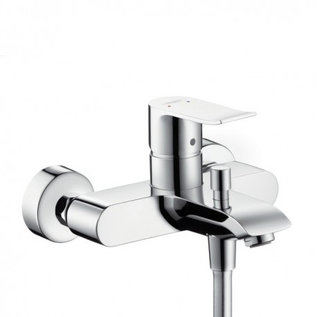 Hansgrohe  Metris Single lever bath and shower mixer for exposed installation