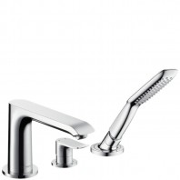 Hansgrohe Metris 3-Hole rim-mounted single lever bath mixer