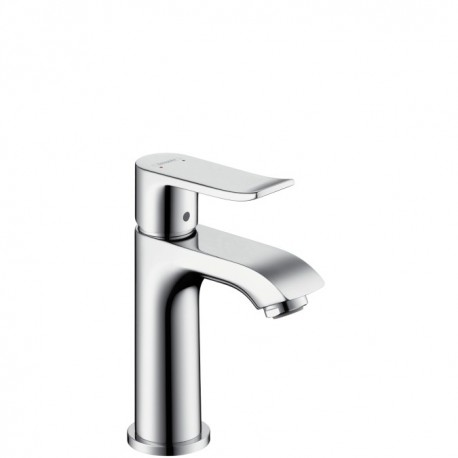 Hansgrohe Metris Single lever basin mixer for small basins with waste set - 100