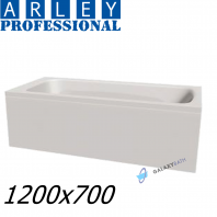 Arley Modern Rectangular 5mm Acrylic Bathtub 1200 x 700mm With Legs High Quality