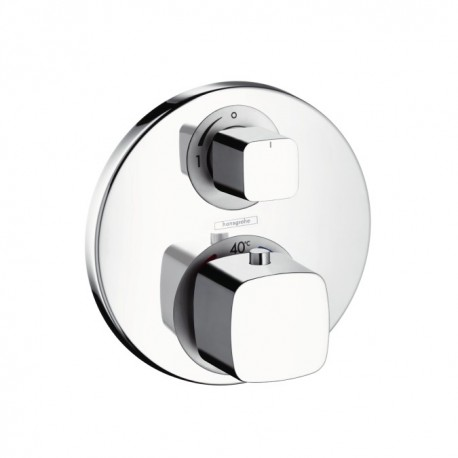 Hansgrohe  Metris Ecostat E thermostatic mixer for concealed installation with shut off valve