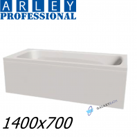 Arley Modern Rectangular 5mm Acrylic Bathtub 1400 x 700mm With Legs High Quality