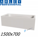 Arley Modern Rectangular 5mm Acrylic Bathtub 1500 x 700mm With Legs High Quality