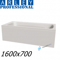 Arley Modern Rectangular 5mm Acrylic Bathtub 1600 x 700mm With Legs High Quality