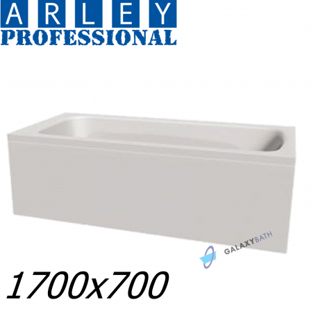 Arley Modern Rectangular 5mm Acrylic Bathtub 1700 x 700mm With Legs High Quality