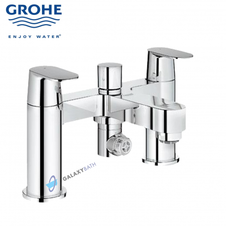 Grohe Eurosmart Cosmopolitan Two Handles Bath Shower Tap Deck Mount...
