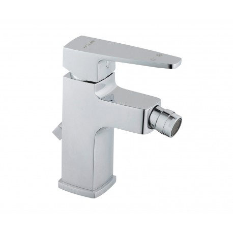 Vitra Q-Line Bidet Mixer Tap With Pop Up Waste Single Lever Chrome